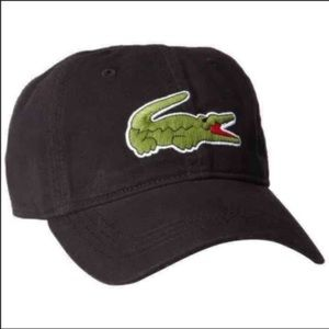 New Lacoste Unisex Black Hat Cap